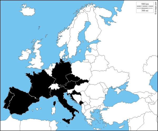 Mapa navštívených míst