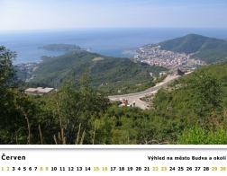 Kalendář 2019 - Černá Hora, výhled na město Budva