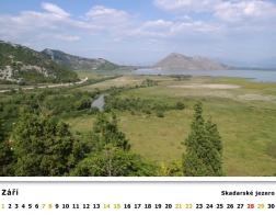 Kalendář 2019 - Černá Hora, Skadarské jezero