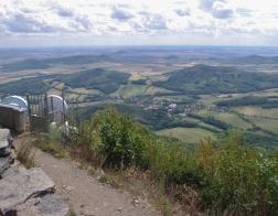 České středohoří - výhled z Milešovky