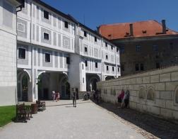 Český Krumlov - vstup na Plášťový most