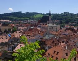 Český Krumlov - výhled z Plášťového mostu