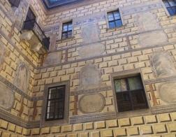 Český Krumlov - zámecké stěny