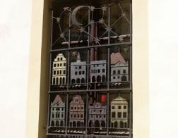 Český Krumlov - zdobené okno