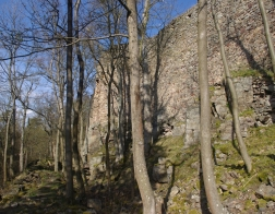 CHKO Brdy - zřícenina hradu Valdek