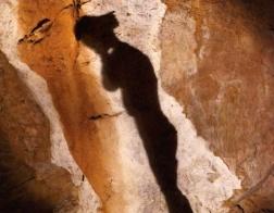 Mamutí jeskyně - umělě vytvořené promítání