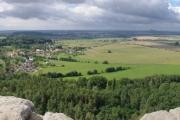 Panorama z Drábských světniček