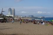 "Barcelona coast near ""W"" hotel"
