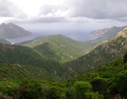Corse - mountains and sea view