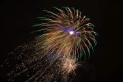 New Year firework in Nymburk town