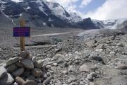 Ledovec Pasterze - výška ledovce v zimě v roce 2015
