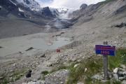 Ledovec Pasterze - výška ledovce v zimě v roce 1995