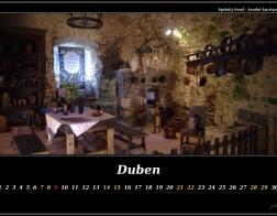Duben - Spišský hrad, hradní kuchyně