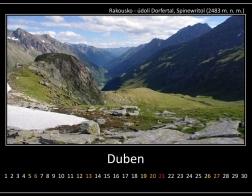 Duben - údolí Dorfertal