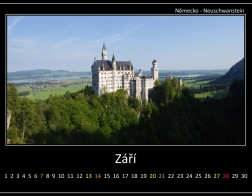 Září - Neuschwanstein