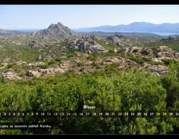 Březen - krajina na severu Korsiky