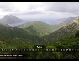 Květen - krajina na severu Korsiky
