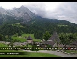 Září - hrad Hohenwerfen