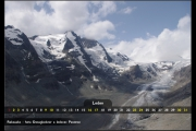 Leden - hora Grossglockner a ledovec Pasterze