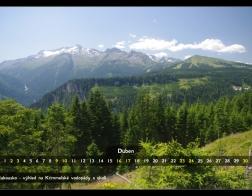 Duben - výhled na Krimmelské vodopády a okolí