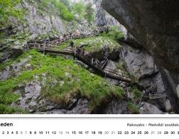 Kalendář 2018 - Rakousko - Medvědí soutěska
