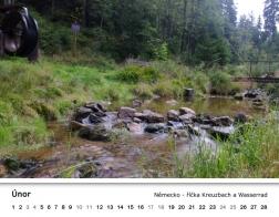 Kalendář 2018 - říčka Kreuzbach a Wasserrad
