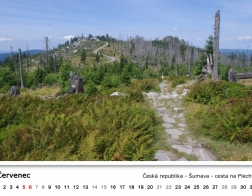 Kalendář 2018 - cesta na Plechý