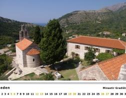 Kalendář 2019 - Černá Hora, Minastir Gradiště