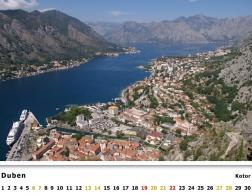 Kalendář 2019 - Černá Hora, Kotor