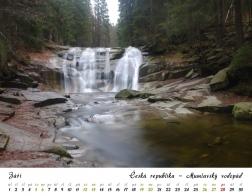 Kalendář 2020 - Mumlavský vodopád
