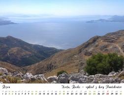 Kalendář 2020 - Řecko, Korfu - výhled z hory Pantokrator