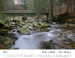 Kalendář 2020 - řeka Mumlava