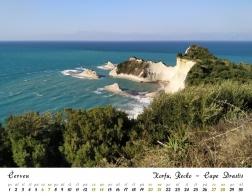 Kalendář 2020 - Řecko, Korfu - Cape Drastis