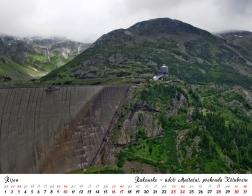 Kalendář 2021 - Rakousko, údolí Maltatal a přehrada Kölnbrein