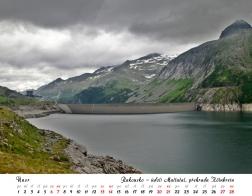 Kalendář 2021 - Rakousko, údolí Maltatal, přehrada Kölnbrein