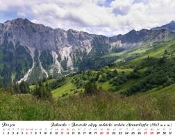 Kalendář 2021 - Rakousko, Bavorské Alpy, nedaleko vrcholu Neunerköpfe