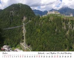 Kalendář 2021 - Rakousko, most Highline 179 a hrad Ehrenberg
