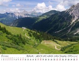 Kalendář 2021 - Rakousko, výhled do údolí nedaleko vrcholu Sulzspitze