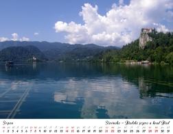Kalendář 2021 - Slovinsko, Bledské jezero a hrad Bled