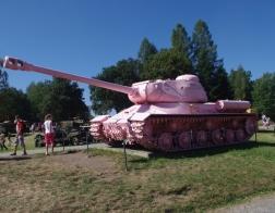 14. tankový den v Lešanech 2016 - tank IS-2