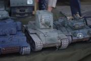 14. tankový den v Lešanech 2016 - model tanku KV-2