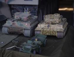 14. tankový den v Lešanech 2016 - model tanků Tiger