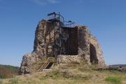 Zřícenina hradu Lichnice - rozhledna Milada (postaveno v roce 2017)