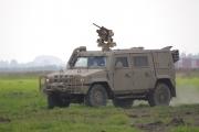 NATO days 2014 - terénní auto Iveco s dálkově řízeným kulometem
