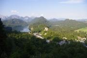 Výhled z cesty k mostku Marienbrücke