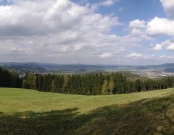 Panorama nedaleko pěchotního srubu Březinka