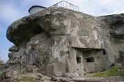 Pěchotní srub Můstek - Zničený Němci, kteří zde testovali své střely