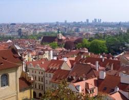 Praha - Hradčany, výhled na Prahu
