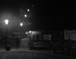 Praha v noci - Nový svět - duch