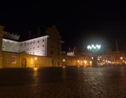 Praha v noci - Hradčanské náměstí